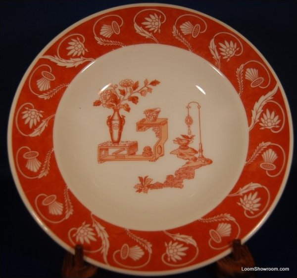 Lamberton Red and White Porcelain Plate Similar Style to Haviland Original Version also for sale in this store Box31M