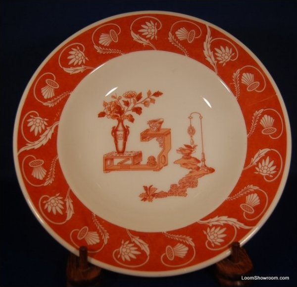 Lamberton Red and White Porcelain Plate Similar Style to Haviland Original Version also for sale in this store Box31Q