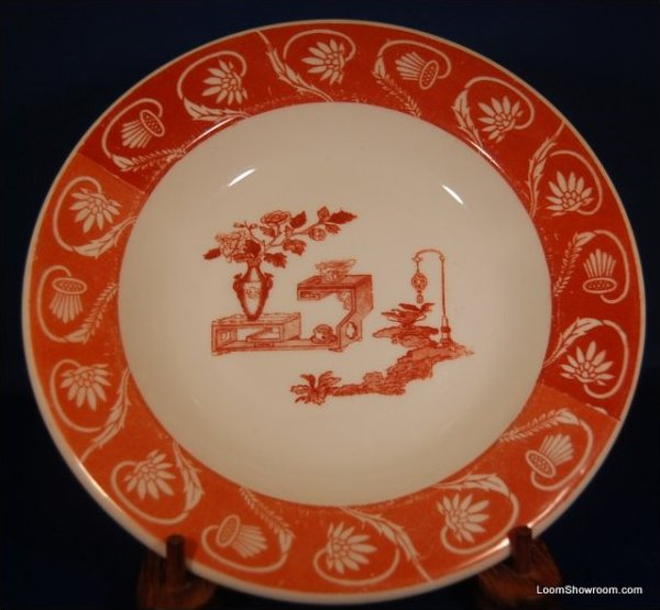 LN Lewis Neblett Warwick Red and White Porcelain Plate Similar Style to Haviland Original Version also for sale in this store Box31O