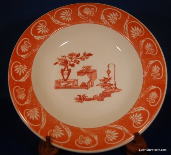 LN Lewis Neblett Warwick Red and White Porcelain Plate Similar Style to Haviland Original Version also for sale in this store Box31P