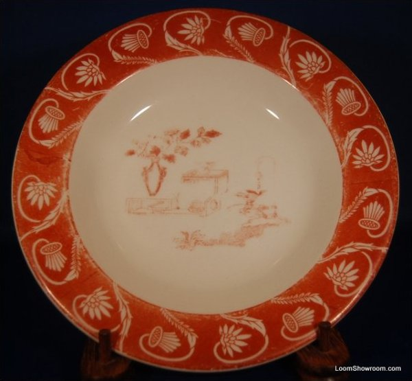 Wheeling Red and White Porcelain Plate Similar Style to Haviland Original Version also for sale in this store Box31N
