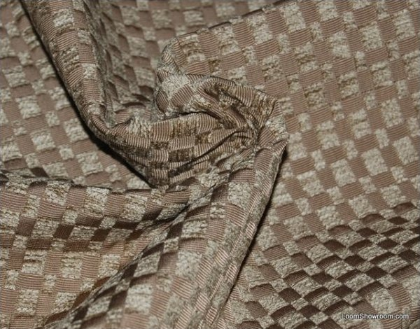 Clarence House Kilifi Taupe Heavy Upholstery Chenille Two Tone Grid Modern Fabric CLA153