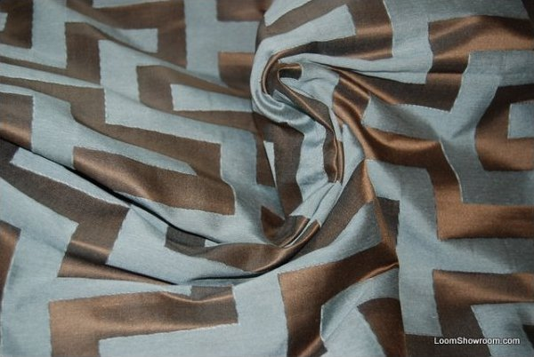 Ch435 Clarence House Silk Greek Key Italy Jacquard Reversible
