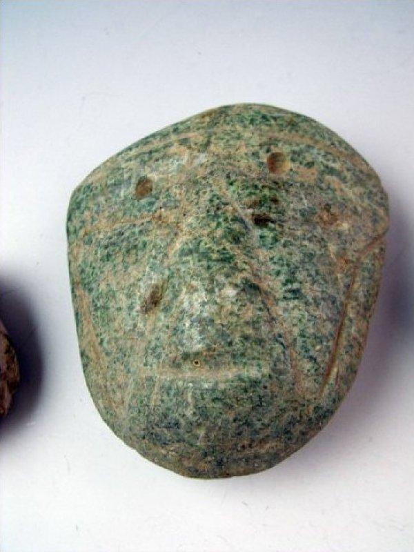 Guerrero Mexican Pre Columbian Circa 400CE Stone Head Amulet JF424b-5