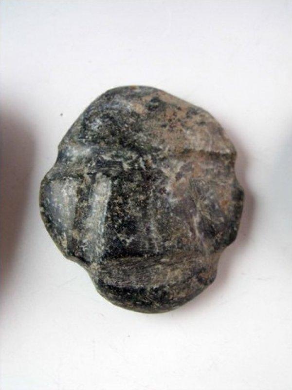 Guerrero Mexican Pre Columbian Circa 400CE Stone Head Amulet JF424c-5