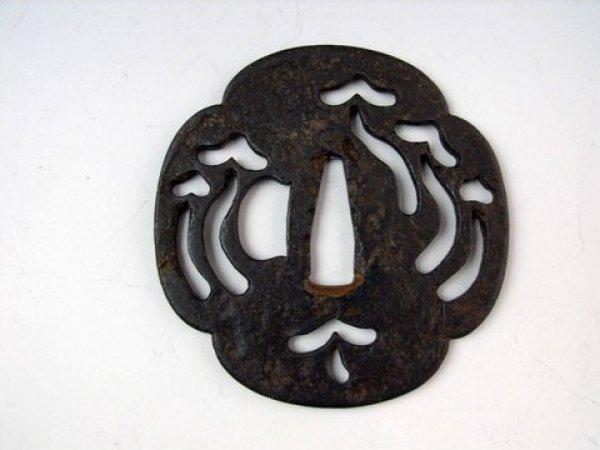 Tsuba Antique Mushroom Form Tsuba Japanese Samurai Tsuba 19th century iron piece JF812-62