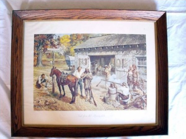Gayle Hoskins Print Framed Trade from the Monongahela JF1007-1