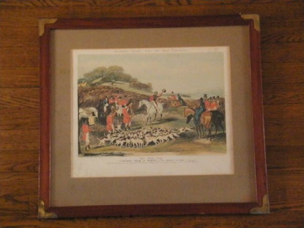 Moore's Tally Ho To The Sports Print The Noble Tips Plate 4 Proof Framed JF312-12