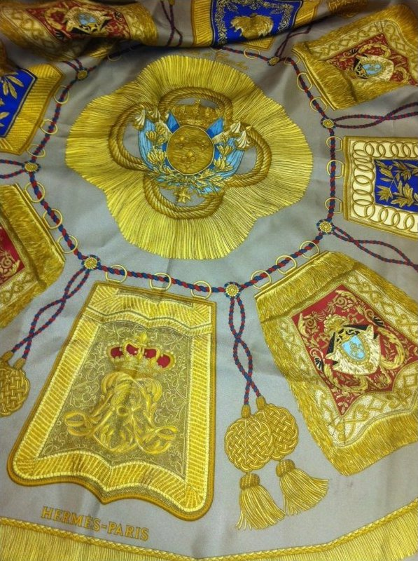 Vintage Hermes Silk Scarf Poste et Cavalerie Joachim Metz