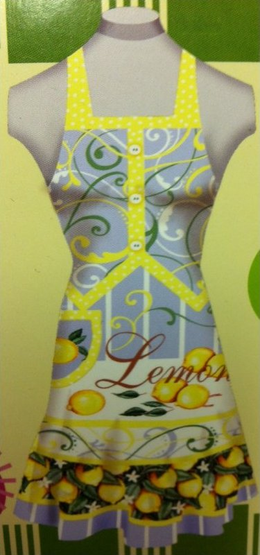 Apron Kit Lemon Fresh Floral Full Cotton Apron Kit