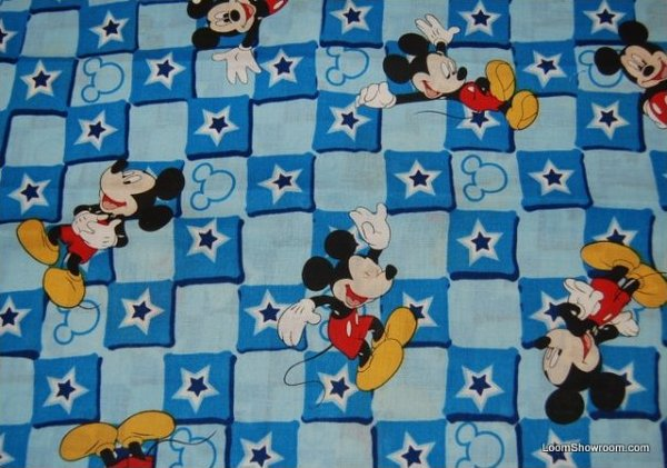 Mickey Mouse Disney Magic Star Patch Cotton Fabric Quilt Fabric RPC281 : disney quilting fabric - Adamdwight.com