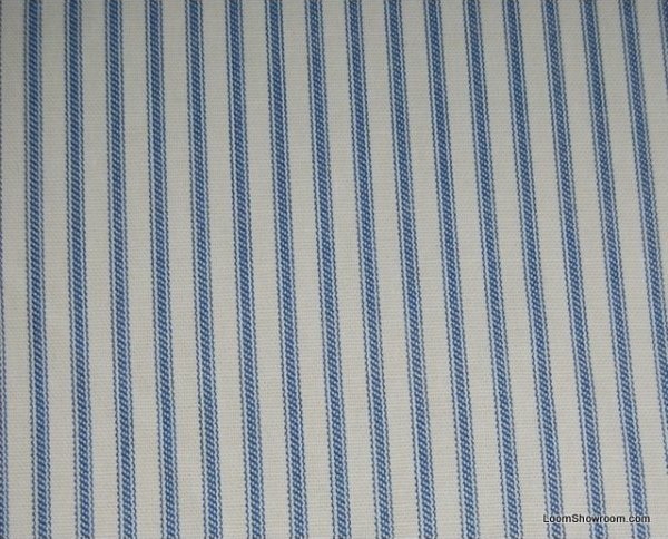 Ticking Stripe Blue And White Clic Heavy Weight Cotton Fabric Drapery Upholstery Hd361 Osym