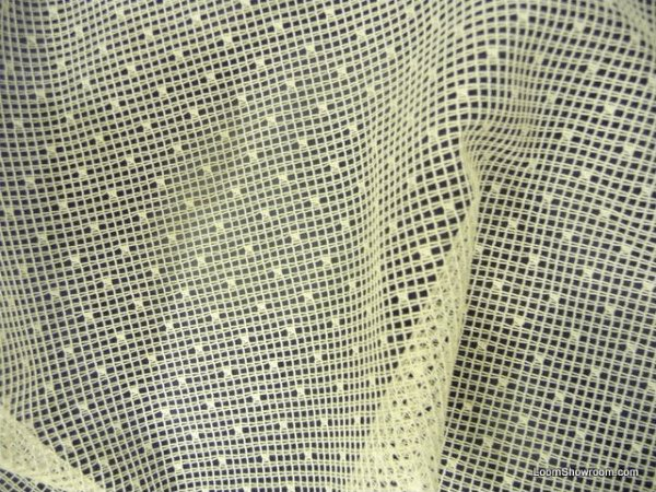 Lace Sheer Swiss Dot Mini Dotted Embroidered Net Ivory Curtain Fabric Dry Ldso505