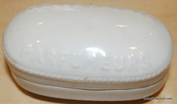 Antique French Porcelain Perfume Box Marked Parfumeurs Gelle Freres Rare Piece BOX52D