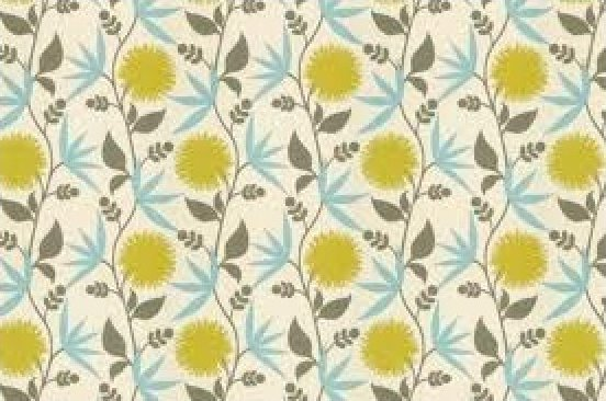 Thomas Paul Scandinavian Modern Large Scale Bold Graphic Floral Heavy Cotton Fabric Aegean DSO127 R/O