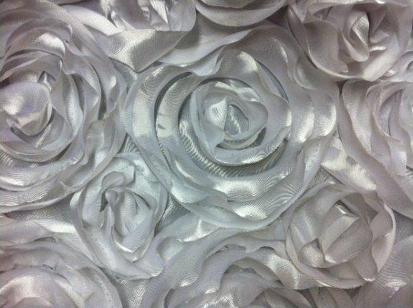 D ballet embroidered lace appliques white floral venise lace