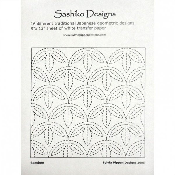 16 Sashiko Geometric Designs and Transfer Paper by Sylvia Pippen Designs