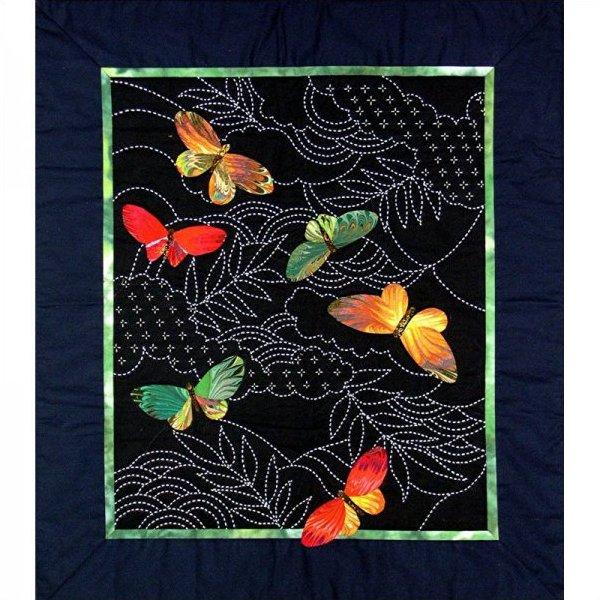 Butterflies & Sashiko by Sylvia Pippen