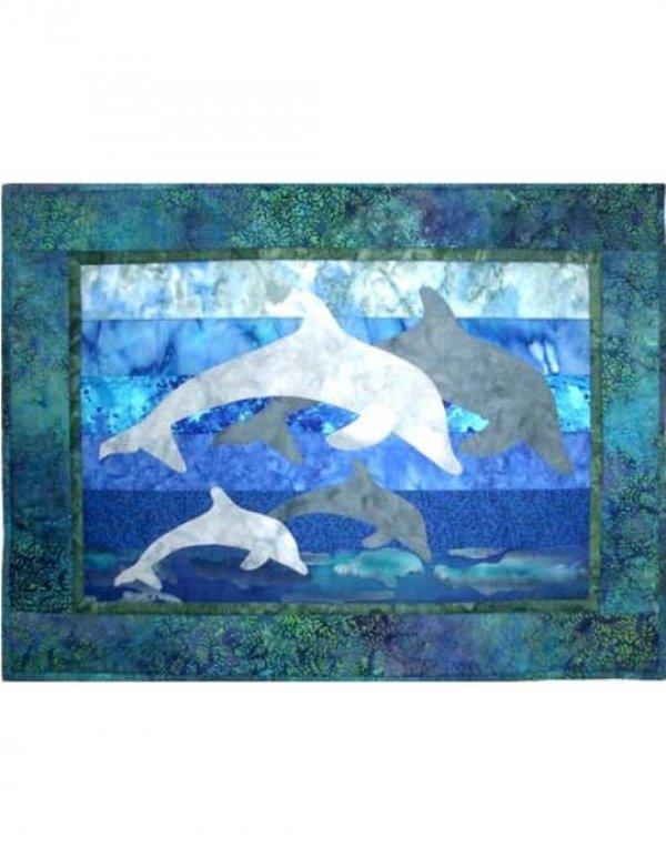 Dolphin Family Laser Precut Kit by Castilleja Cotton