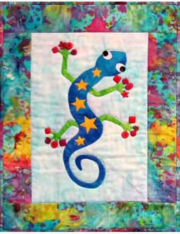 Funky Gecko Laser Precut Kit by Castilleja Cotton