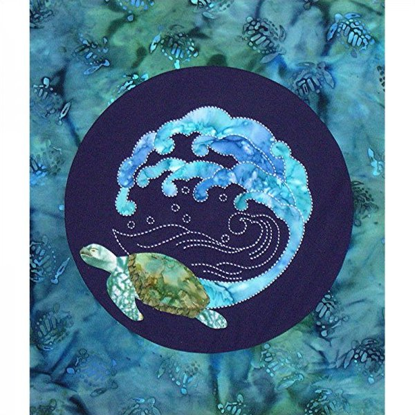 Honu Sea Turtle & Wave by Sylvia Pippen Designs