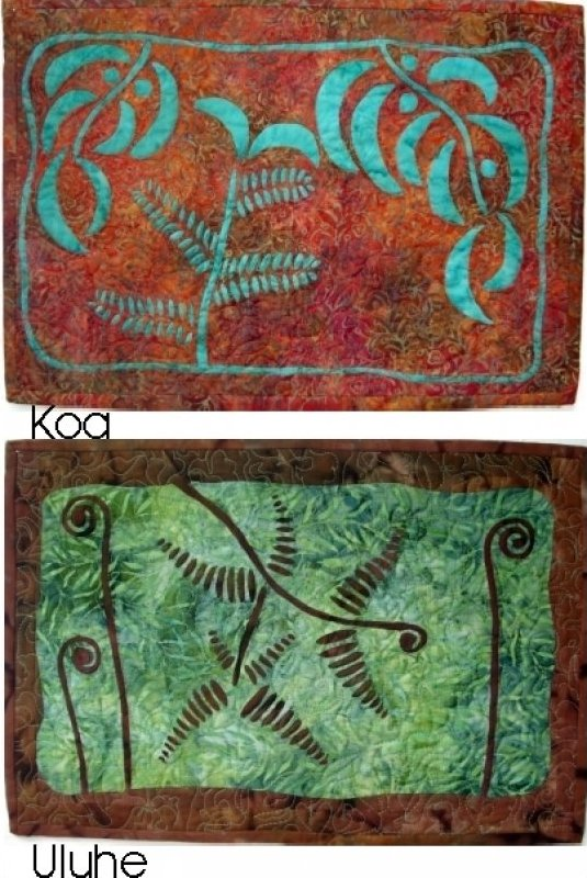 Place Mats or Wall Art (Koa & Uluhe) by Loretta Pasco/Raintree Hawaii