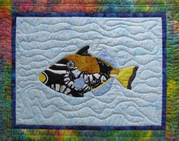 Tropical Fish - Clown Triggerfish by Barbara Bieraugel Designs