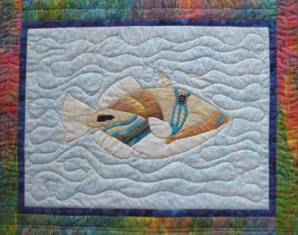 Tropical Fish – Lagoon Triggerfish by Barbara Bieraugel Designs