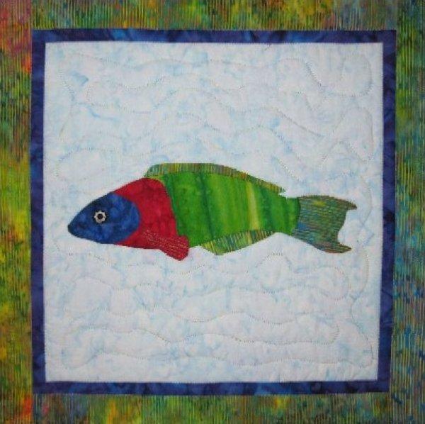 Tropical Fish – Saddle Wrasse by Barbara Bieraugel Designs