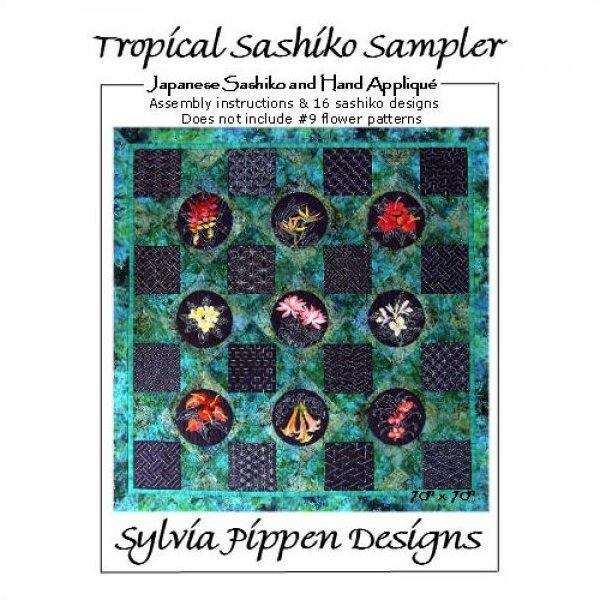 Tropical Sashiko Sampler Assembly Instructions by Sylvia Pippen Designs