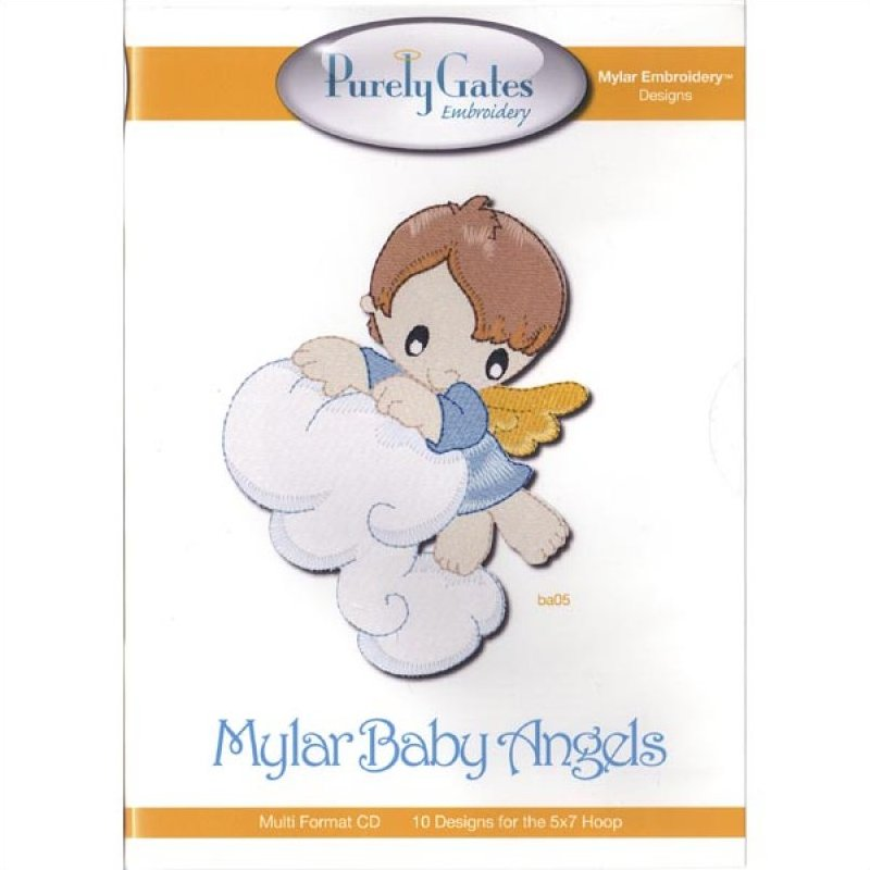 Mylar Baby Angels by Purely Gates Embroidery