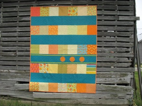 Three Tangerines by The Scarlet Thread Quilting Co.