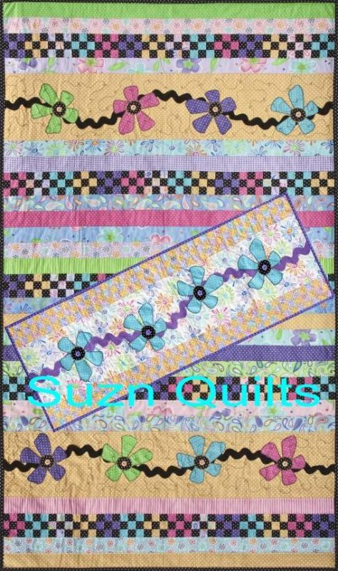 Flowers on the Vine by Suzn Quilts