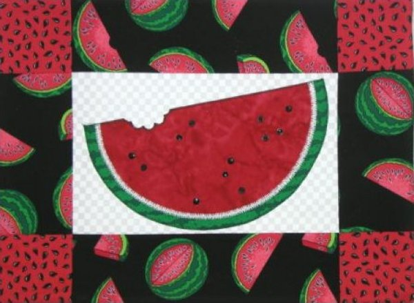 Watermelon Pillow by The Quilt Company