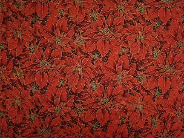 Christmas, Poinsettia Red by Fabri-Quilt