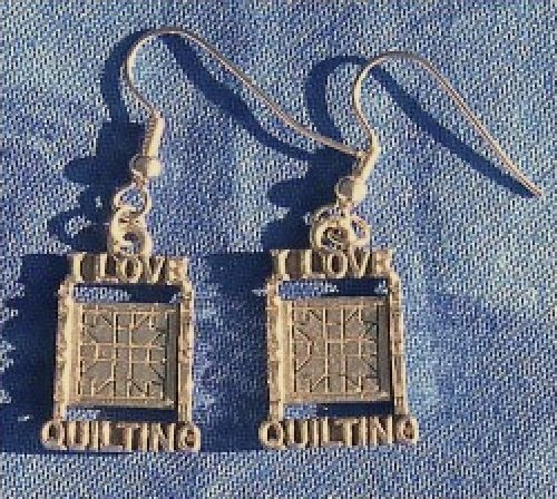 Earrings - I Love Quilting