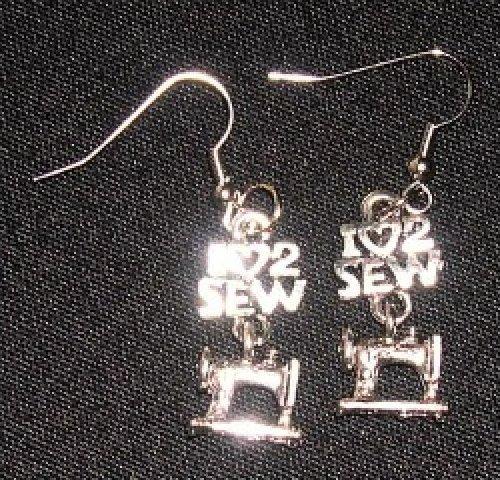 Earrings - I Heart (Love) 2 Sew