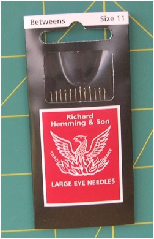 Hand Quilting Needles by Richard Hemming & Son - Size 11 Betweens