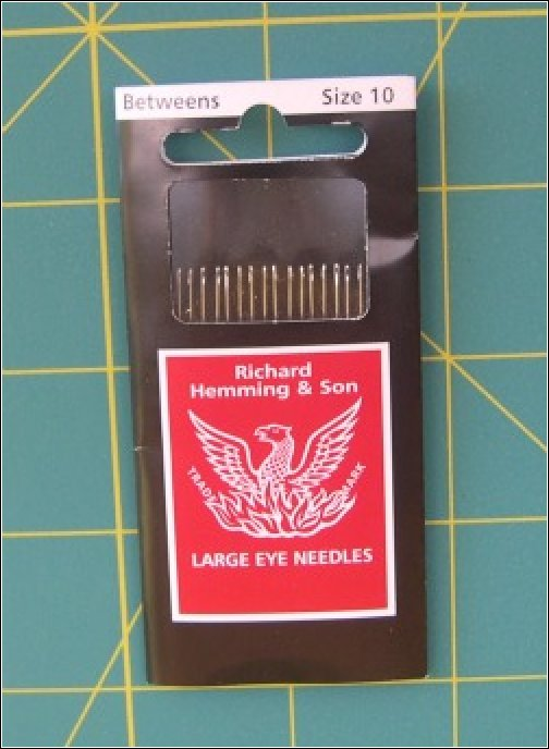 Hand Quilting Needles by Richard Hemming & Son - Size 10 Betweens