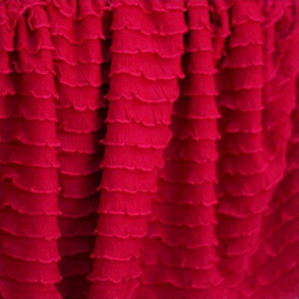Ruffle Fabric - Red Mini