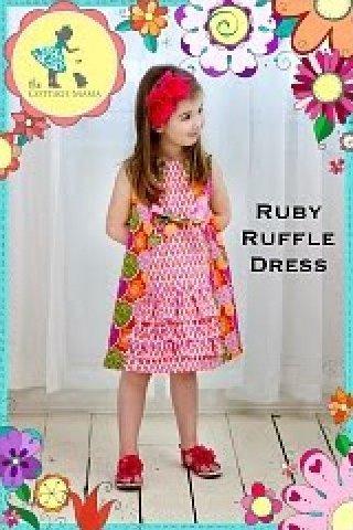 Cottage Mama - Ruby Ruffle Dress
