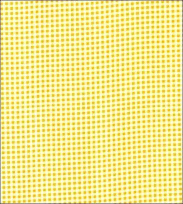 Oil Cloth - Mini Gingham Yellow