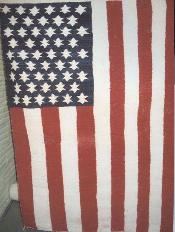 AMERICAN FLAG VINTAGE NAVAJO RUG
