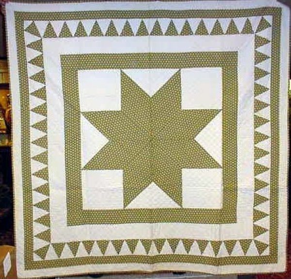 STAR OF BETHLEHEM ANTIQUE QUILT (one starry print fabric)