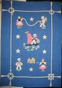 NAUTICAL VINTAGE CRIB QUILT