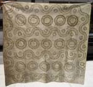 TRAPUNTO WHITEWORK ANTIQUE QUILT, Wreaths and Serpentine Rows of Stuffed Work