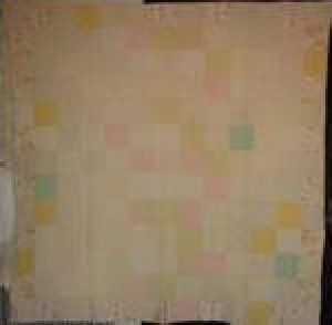 WELSH ONE PATCH ANTIQUE PIECED QUILT