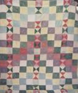 STAIRWAY TO HEAVEN ONE PATCH ANTIQUE QUILT wool boucle