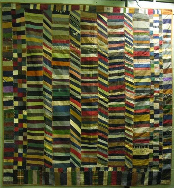 CHINESE COIN BARS ANTIQUE QUILT