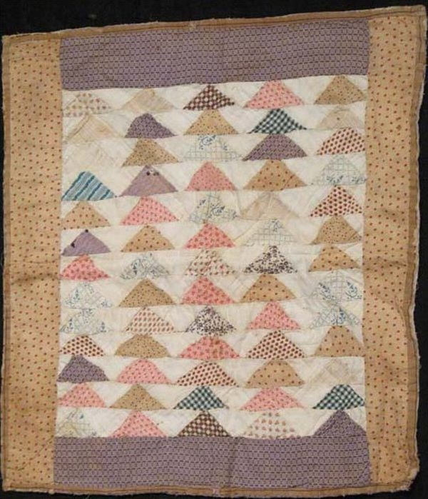 FLYING GEESE ANTIQUE DOLL QUILT